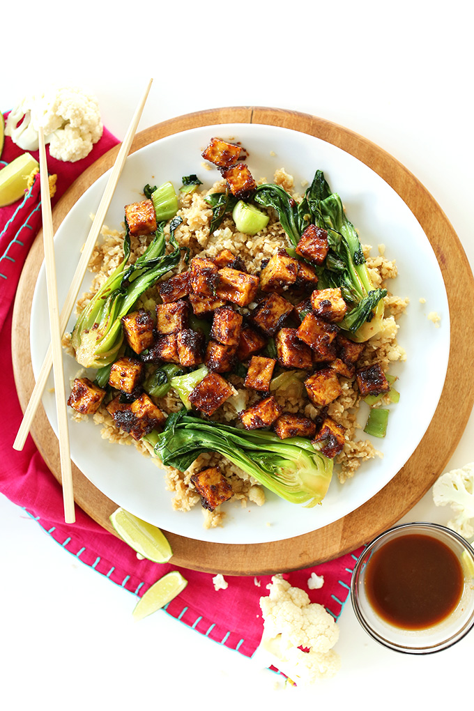 Cheap keto meals: Peanut tofu Stir Fry for Minimalist Baker