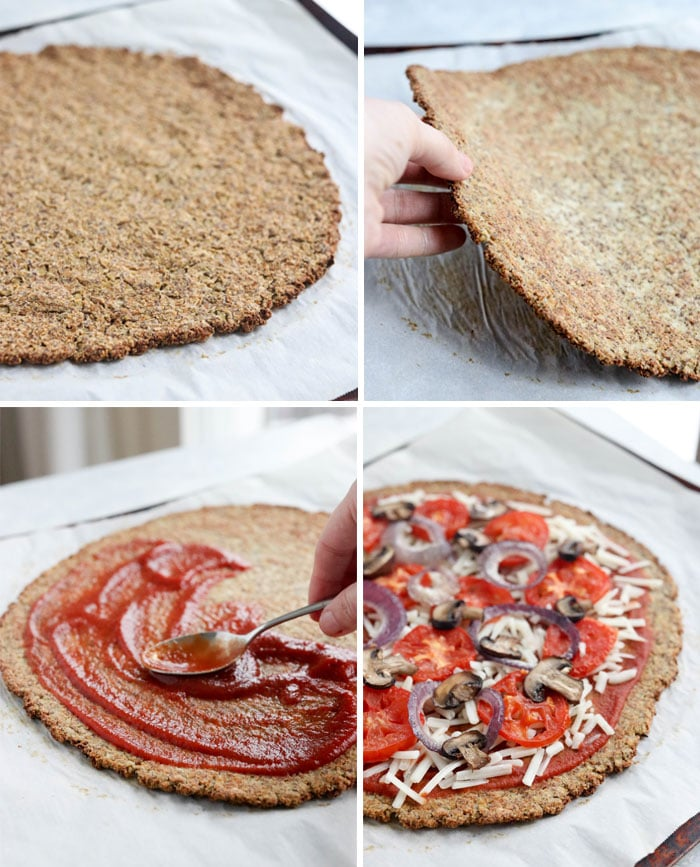 Cheap keto meals: Cauliflower pizza crust from Detoxinista