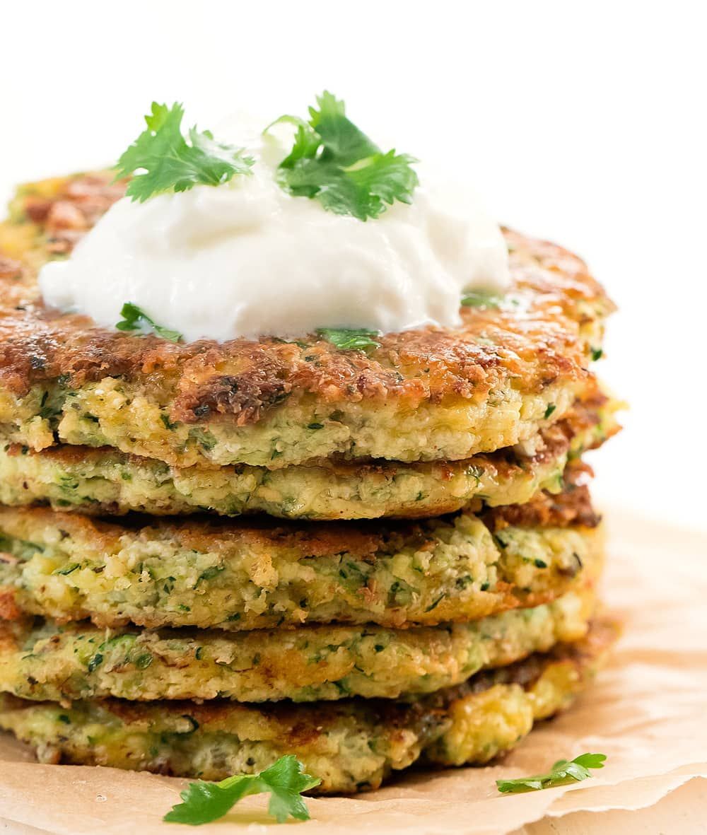 Cheap keto meals: Zucchini Fritters